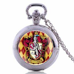 Ожерелье кулон конструкций мужчин онлайн-Bronze  Design Men's Quartz Pocket Watch Fashion Gift Cool Pendant Necklace Chain Relojes de bolsillo 2019