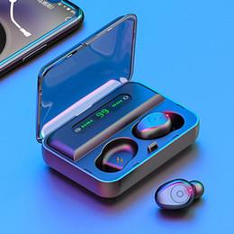 Écran de casque bluetooth en Ligne-TWS 5.0 casque stéréo 3D Bluetooth sans fil écouteurs vrai Etanche IPX7 Sport Casque de jeu avec microphone numérique écran