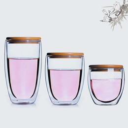 Высоко-Боросиликатная форма яйца стеклопакет прозрачная бутылка воды изолированная кружка кофе Чашка чая посуда с деревянной крышкой cheap glazed mugs от Поставщики глазурованные кружки