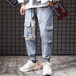 Sacos com marca japonesa on-line-Marca japonesa Simples Puro Calças Pano Chaozhou dos homens calça Grande Saco Workwear e Pequeno Pé de Lazer mens sweatpants designer