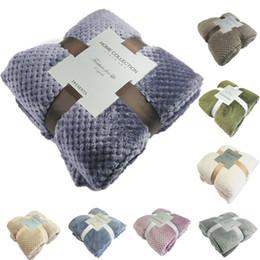 luz verde consolador conjuntos Desconto Super macio cobertor de flanela Aircraft Sofá Use o Office Crianças Blanket toalha de viagem velo malha portátil Blanket Car cobertura de viagem