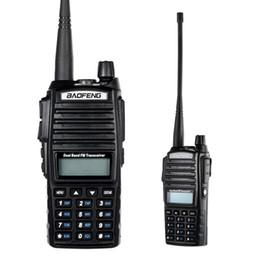 2019 rádio portátil de banda dupla uhf vhf Walkie Talkie Portátil Em Dois Sentidos Rádio Ham VHF / UHF Dupla Banda Handheld FM Transceptor de Longa Comunicação Interphone rádio portátil de banda dupla uhf vhf barato