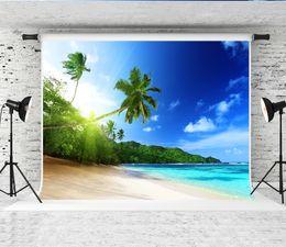 2019 cenários de fotografia do mar Sonho 7x5ft (220x150 cm) Hawaii Sea Beach Fotografia Cenário Tropical Fundo de Verão Céu Azul Photo Shoot Backdrops Estúdio Prop cenários de fotografia do mar barato