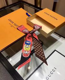 Seidenstirnbänder für frauen online-Luxus Designer Seide HANDTASCHE Tasche Schal Stirnbänder Neue Marke Frauen Seide Scraves 100% Bestnote Seide Tasche Schal Haarbänder P159991