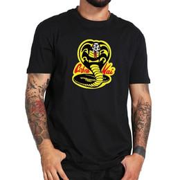 camisas do rei do algodão Desconto Cobra Kai T-Shirt de Filmes de TV King Of Snakes Roupas de Fitness Camisa de Algodão EUA Tamanho Engraçado frete grátis Unisex Casual Tshirt top
