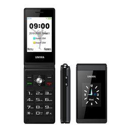 Deutschland Ursprüngliches Luxuxgeschäfts-Schlag-Telefon G- / Mgroßer Druckknopf-alter Mann-Schlag-Handy-Doppelsim Bluetooth FM Radio der UNIWA-X28 setzte Mobiltelefon frei cheap old phone mp3 Versorgung