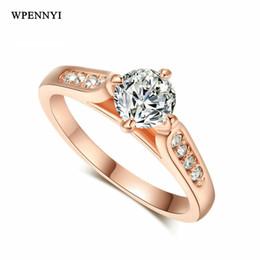 Anelli braccio stili online-Accessori di moda all'ingrosso classici in oro rosa con taglio cupido 5 mm 0,5 ct 0,5 zirconi stile signora anelli di fidanzamento