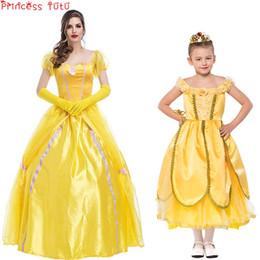 fantasia de princesa de princesa amarela Desconto Meninas do dia das bruxas Adulto Princesa Traje Fada Amarela Mulheres Retro Tribunal Vestido De Fadas Conto de Fadas Roupas Tema Traje Hallowmas