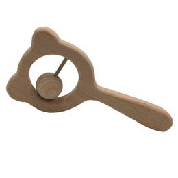 Canada Livraison gratuite Accessoires Hêtre jouet Ours Hochet Artisanat jouet Molaire dent Bébé jouet de dentition Offre