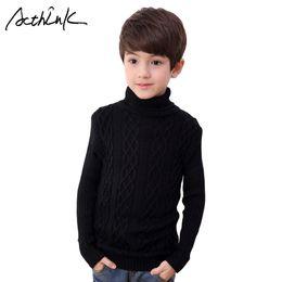 Большие свитера падения онлайн-ActhInK Новый 2017 Мальчики Зима Вязаные свитера Big Boys Водолазка Твердая Теплый свитер Дети Шерстяной Fall для мальчиков, C316
