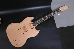gitarren körper unvollendet Rabatt Set unvollendete Mahagoni-Gitarre Körper + Gitarre Hals Diy SG Style E-Gitarre Z1
