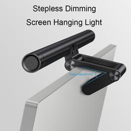 вентилятор xiaomi usb Скидка Бесступенчатое затемнение светодиодная настольная лампа регулируемый экран для чтения висит свет компьютер защита глаз лампа USB аккумуляторная свет для офиса дома