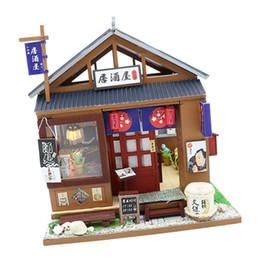 Giapponese in miniatura online-1:24 fai da te casa di bambole in miniatura con kit di mobili giapponese in stile Izakaya bambini giocattolo regali di compleanno