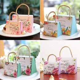 Упаковка для ювелирных изделий онлайн-Мешки подарка коробки конфеты печатания венчания флористические упаковывая мешок с ручками упаковывая для мешков подарка Валентайн ювелирных изделий