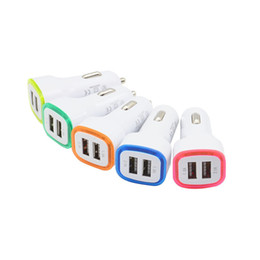 зарядное устройство samsung 2.1a Скидка 5V 2.1A Два порта USB Светодиодный свет Автомобильное зарядное устройство адаптер универсальный Чаринг адаптер для iphone Samsung Note 10 HTC LG сотовых телефонов