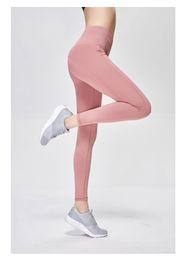 Polainas deportivas para mujeres online-Deportes Secado rápido Pantalones de yoga para mujeres Legging de cintura alta Ropa de fitness Fitness femenino Leggins Deporte Gimnasio Leggings Medias.