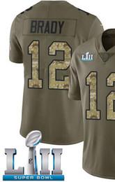 Herren 2019 Champions Shirt New England 12 Jersey Herrenstickerei und 100% genähtes 2018 Limited American Football-Trikot von Fabrikanten