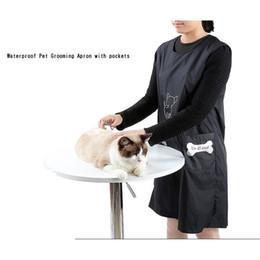 esteticistas uniformes Rebajas Y estética para mascotas impermeable delantal con bolsillos impermeables perro traje de baño Ropa Limpia Uniformes de estética para mascotas