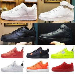 Canada NIKE AF 1 air force 1 Utility Classique Noir Blanc Dunk Hommes Femmes Casual Chaussures rouge one Sports Skateboarding Haute Basse Coupe Baskets De Blé hors Sneakers supplier high cut shoes brands Offre