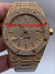 Deutschland Fashion trend new men's diamond-inlaid wristwatch, complete color, automatic movement, can be customized, a large number of wholesale! Versorgung