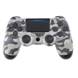 Almohadilla con cable online-Para PlayStation 4 PS4 Controlador de juegos con cable Gamepad Golden Camouflage Joystick Game Pad Double Shock Controlador USB Consola No es original