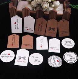 sacchetti di regalo carta diy Sconti Etichette regalo belle di carta Kraft Etichette di prezzo fatte a mano fai-da-te Borse Etichette di imballaggio di cottura per la bottiglia dei gioielli dei cosmetici dei cosmetici Bevanda GB395