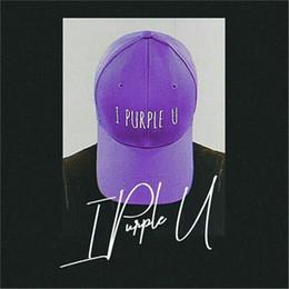 Morado pisos para chicas online-Aganmi BTS I Purple U Hat V Cap Snapback Hip Hop Sombrero plano para ejército para niños niñas