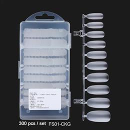 estilos de unhas de acrílico Desconto Pregos falsificados de 300 PCS / Box Pregos diferentes sem emenda acrílicos polonês ultra-finos sem emenda da superfície matte pregos