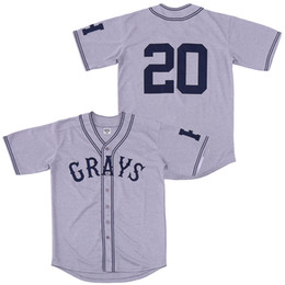 imbecil posey jersey Desconto 20 Josh GIBSON Jersey Homestead Grays Negro League com botões Grey Baseball Jerseys