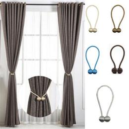 Magnetische Perle Ball Vorhang Raffhalter Raffhalter Rückhalteseile Schnalle Clips Zubehör Vorhang Raffhalter Mode Magnetische Vorhang Strap Bukle Decor von Fabrikanten