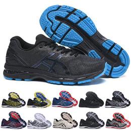 2e58f84ff6 Novità asics GEL-Nimbus 20 Stability Scarpe da corsa traspiranti per uomo  nero bianco blu rosso da uomo da allenamento moda sneakers sportive da  corsa gel ...