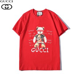 7b6988916a9f Mens T Shirt Estate Nuovi vestiti co-branded Moda Lettera Stampa manica  corta Cute Bear Pattern Top Trendy Womens Mens