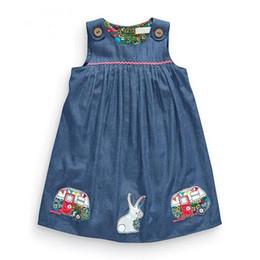 Canada Swing facile coton fille robes pull jupe avec broderie une jupe plissée ligne enfants vêtements de créateurs Offre