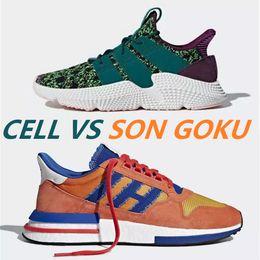 promo code e2b36 49b0d Scarpe da corsa Dragon Ball Z x Propèle di alta qualità ZX 500 Son Goku  Scarpe da corsa da donna da uomo in vendita Sneakers bianche viola verdi z  scarpe ...