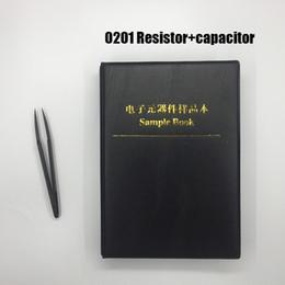 8500 pc 1% 0201 kit resistor smd + 2550 pc capacitor sortimento amostra livro para resistor livro pacote resistor capacitor de Fornecedores de resistências térmicas