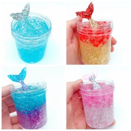 crystal mud free Coupons - kids gift mermaid crystal soil novelty children fish tail crystal mud dream colour reduced pressure free shipping