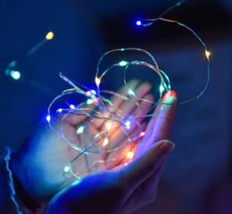 Cadena de alambre de cobre botón de la batería de la fiesta de vacaciones luces decorativas impermeables del color de la fiesta Flor de la celebración de la torta tira de luz LED 2M desde fabricantes