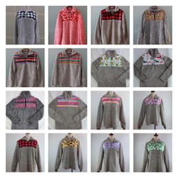 2020 sherpa hoodies 21 sudaderas con capucha de diseño Sherpa Invierno Mujer Sherpa Soft Pullover Sweater Outwear Coat Jerseys Tops cálidos Patchwork Sweaters LJJK1836 sherpa hoodies baratos