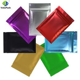2020 bolsas de papel de aluminio al por mayor 100pcs 8.5x13cm mayorista (3.25x5in) sellado en caliente Ziplock Mate Negro / Verde / oro del papel de aluminio Mylar Zip plana Bolsas de almacenamiento rebajas bolsas de papel de aluminio al por mayor