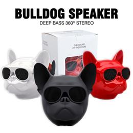 haut-parleurs bluetooth Promotion Bull Dog Portable Haut-parleur Bluetooth Mini Haut-Parleur Extérieur Bluetooth 4.1 Stéréo MP3 pour téléphone portable Cadeau de Bande Dessinée