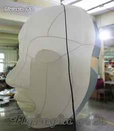 Personnalisé Halloween Hanging Gonflable Deux-Face Tête 3m Hauteur Grand Masque Homme Pour Concert Et Décoration De Fête ? partir de fabricateur