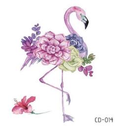Temporária Tatuagem Falsa Etiqueta Do Tatuagem Flamingo Flor À Prova D 'Água Flash Tatto Tatouage Temporaire Mão Pé Braço Para A Menina Mulheres Crianças cheap tattoos girls feet de Fornecedores de tatuagens pés das meninas