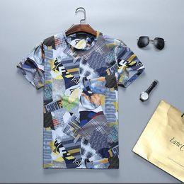 2019 été nouvelle mode mens designer t-shirts de haute qualité anti-rétrécissement respirant impression mens marque de luxe casual coton t-shirt ? partir de fabricateur