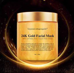 maschera di protezione del carbone di legna di bambù Sconti Facciale della mascherina facciale di cristallo del collageno dell'oro donna 24K collagene Peel Off facciale Face Mask idratazione della pelle Rassodante 250g