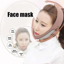 Doux visage visage mince masque amincissant la forme du bandage et la ceinture de soins de la peau de levage Réduire double menton visage masque Thining bande CCA10984 12pcs ? partir de fabricateur