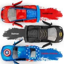 Автомобили-пауки онлайн-Имитация спортивного автомобиля Lamborghini Spider-Man Captain America из сплава Бэтмен модель автомобиля со звуковым освещением Подарок для детей