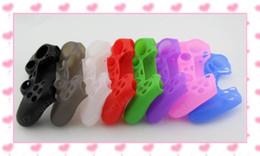 Manejar consolas de juegos online-Colorido Caucho de silicona Suave almohadilla del juego Asa Funda Cubierta de piel para PS4 Controlador Agarre Consola Consola Para Dualshock 4