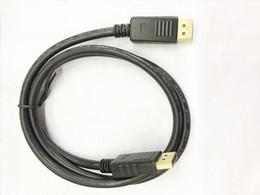 Yüksek kaliteli 1080 P 6ft 1.8 M DisplayPort DP Erkek hdmi Erkek Dönüştürücü Kablo DV Kablosu Bilgisayar Kablosu Ücretsiz Nakliye nereden