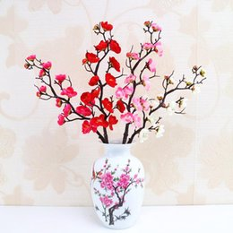 Fiore artificiale di qualità online-qualità fiore artificiale Pastorale prugna fiore Simulazione artificiale Piccolo Ordoviciano Soggiorno ornamento fiore Nuovo stile