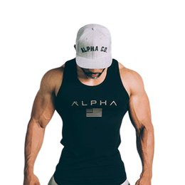 Tanque do homem camisetas on-line-T shirt homens correndo colete de algodão tanque top homem ginásio de fitness musculação camisa sem mangas masculino crossfit treino de treino undershirt vestuário